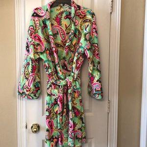 Vera Bradle plush robe
